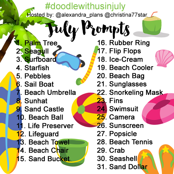 Join the #doodlewithusinjuly challenge!