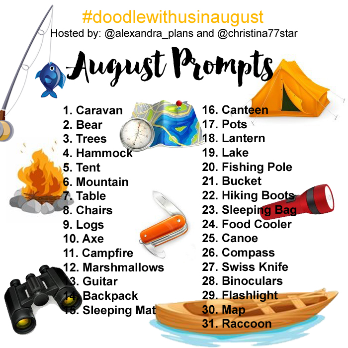 Join the #doodlewithusinaugust challenge!