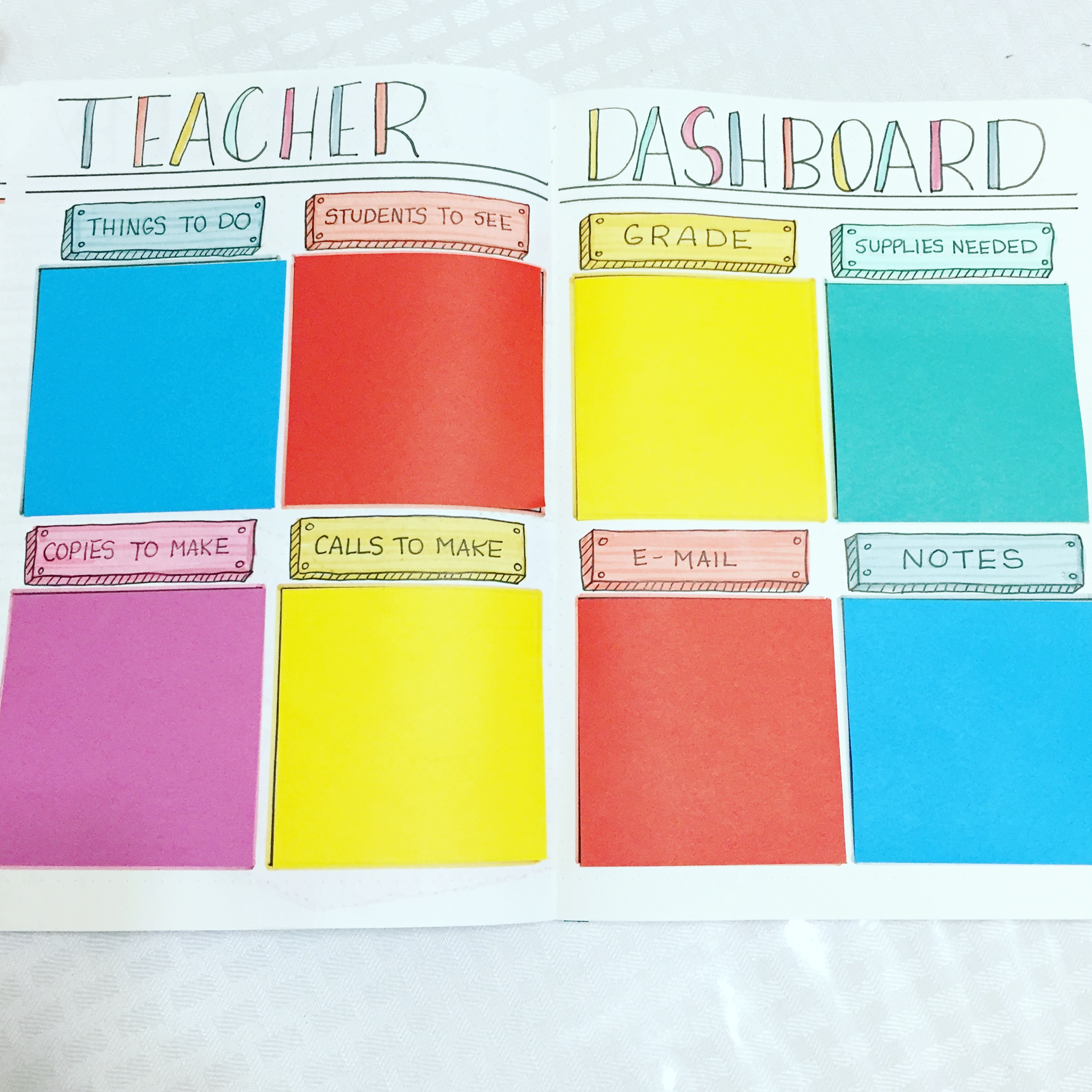 My Teacher Bullet Journal Setup