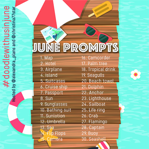 Join us for the #doodlewithusinjune challenge!